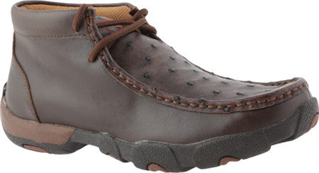 Twisted X Womens Driving Moc D Toe Oil Saddle FQ Ostrich/Brandy Shoe - silveradowesternwear - 1