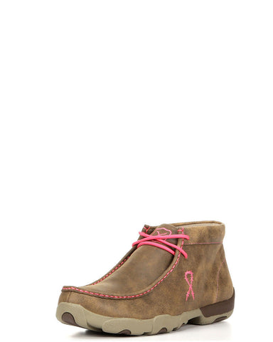 Twisted X Mens Driving Moc D Toe Bomber/Neon Pink - silveradowesternwear - 1