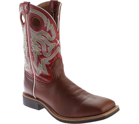Twisted X Mens Top Hand NWS Toe OX Blood/Red Cowboy Boot - silveradowesternwear - 1