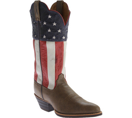 Twisted X Boots Womens Western R Toe Bomber/ Red, White, & Blue - silveradowesternwear - 1