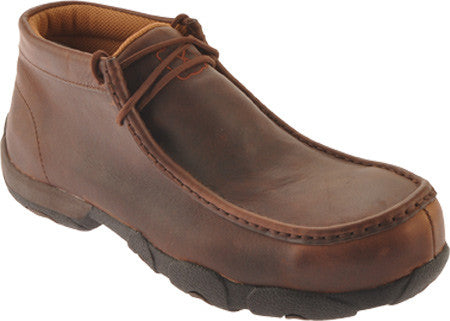 Twisted X Men's Casual Work Driving Moc D Toe Oiled Brown (COMPOSITE TOE) - silveradowesternwear - 1