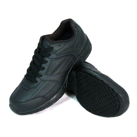 Genuine Grip Men's Casual Athletic Work Shoe Black (NON STEEL TOE) - silveradowesternwear - 1