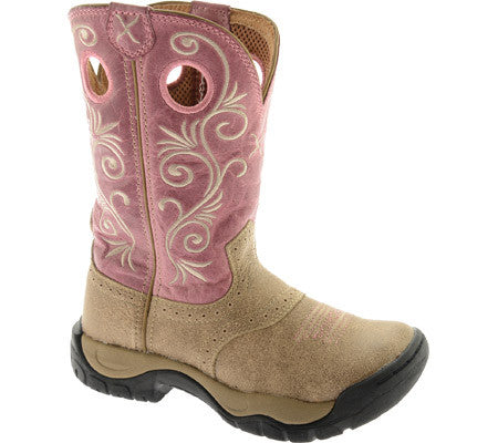 Twisted X Womens All Around Boot K Toe Dusty Tan/Pink - silveradowesternwear - 1