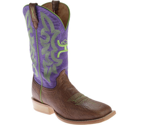 Twisted X Boots Womens Hooey NWS Toe Shoulder Brown/Purple - silveradowesternwear - 1