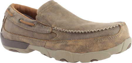 Twisted X Men's Casual Work Driving Slip On D toe Bomber (COMPOSITE TOE) - silveradowesternwear - 1