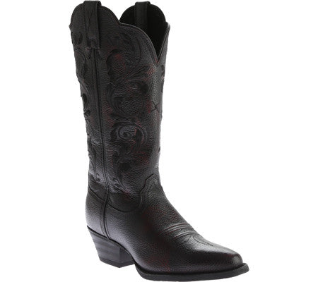 Twisted X Boots Womens Western R Toe Burgundy Brush Off - silveradowesternwear - 1