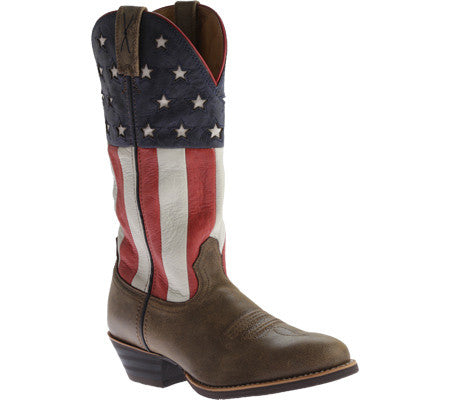 Twisted X Boots Mens Western R Toe Bomber/Red, White, & Blue - silveradowesternwear - 1