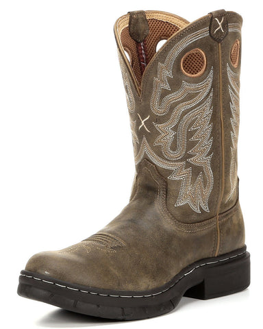 Twisted X Mens EZ Rider Pull On B Toe Bomber/Bomber Cowboy Boot - silveradowesternwear - 1
