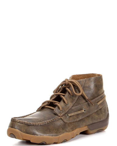 Twisted X Mens Driving Moc D Toe Bomber - silveradowesternwear - 1