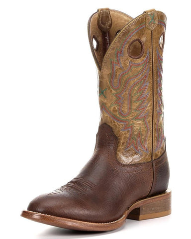 Twisted X Boots Mens Stockman W Toe Copper/Hazel - silveradowesternwear - 1