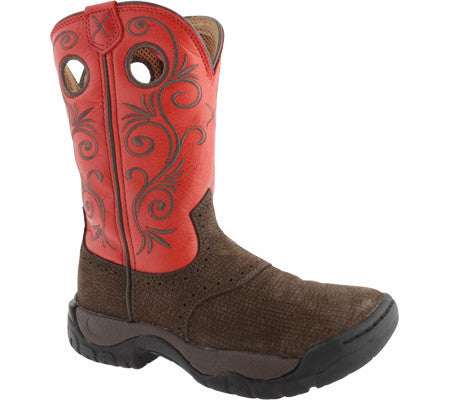 Twisted X Womens All Around Boot K Toe Dusty Brown/Red - silveradowesternwear - 1