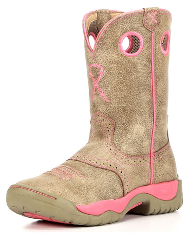 Twisted X Womens All Around Boot K Toe Dusty Tan/Neon Pink - silveradowesternwear - 1