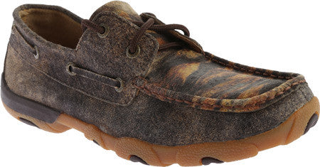 Twisted x Womens Driving Moc D Toe Distressed/Tiger Shoe - silveradowesternwear - 1