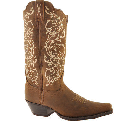 Twisted X Women's Western NS Toe Distressed Saddle Cowhide - silveradowesternwear - 1
