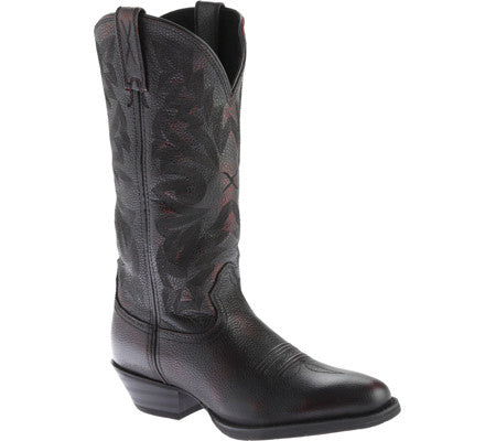 Twisted X Boots Mens Western R Toe Burgundy Brush Off/Brush Off - silveradowesternwear - 1
