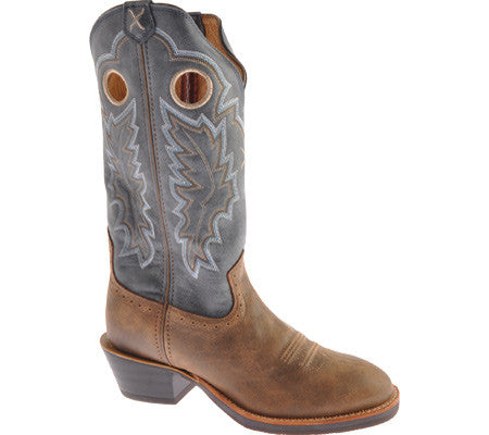 Twisted X Boots Mens Ruff Stock W Toe Bomber/Denim - silveradowesternwear - 1
