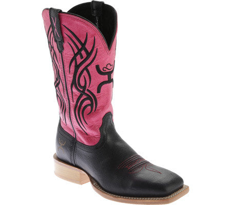 Twisted X Boots Womens Hooey NWS Toe Black/Neon Pink - silveradowesternwear - 1