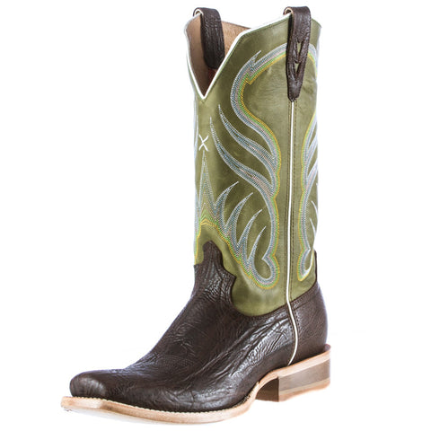 Men's Twisted X Rancher Chocolate Shoulder Cowboy Boots - silveradowesternwear - 1
