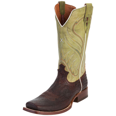 Men's Twisted X Rancher Oiled Brandy Smooth Ostrich Cowboy Boots - silveradowesternwear - 1