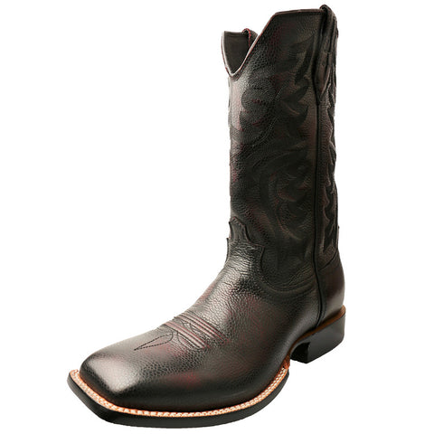Men's Twisted X Red River Black Cherry Burgundy Brush Off Cowboy Boots - silveradowesternwear
