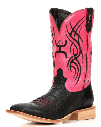 Twisted X Boots Mens Hoeey NWS Toe Black Shoulder Neon Pink - silveradowesternwear - 1
