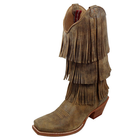 Women's Twisted X Steppin' Out Bomber Fringe Cowgirl Boots