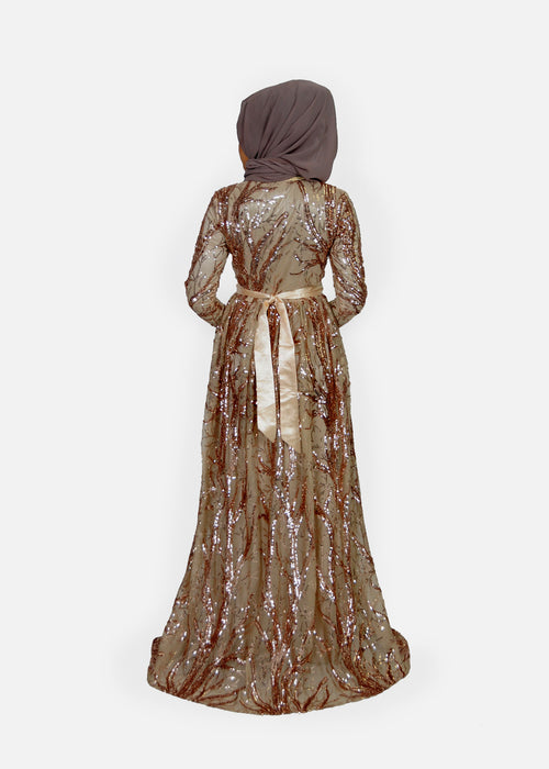 Sparkly Rose Gold Moroccan Kaftan (9606083342)