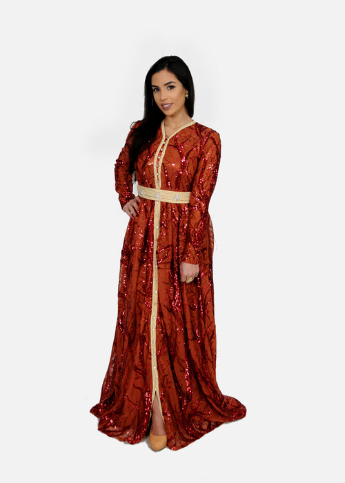 Sparkly Red Moroccan Kaftan (9606047438)