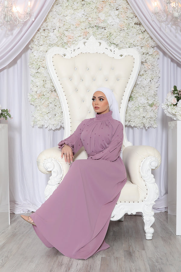 Deluxe Soft Pearl Dress- Pastel Pink