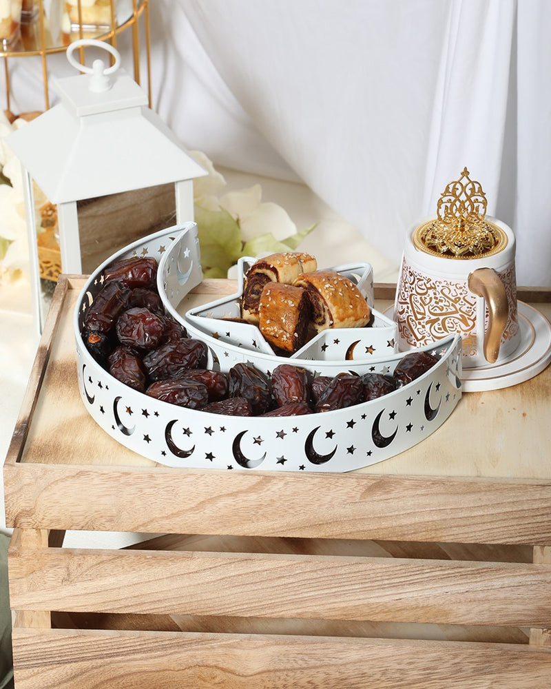 Moon & Star Tray Set- White