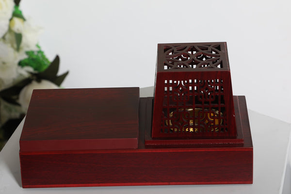 Luxury Bakhoor Burner- Burgundy