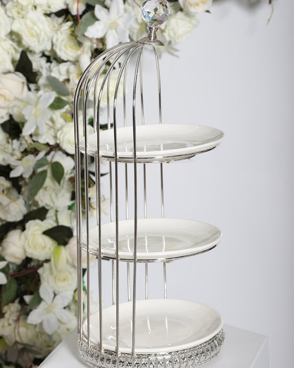 3 Tier Carriage Stand- Silver