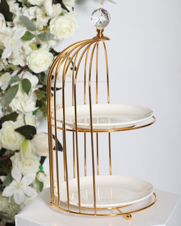 2 Tier Carriage Stand- Gold