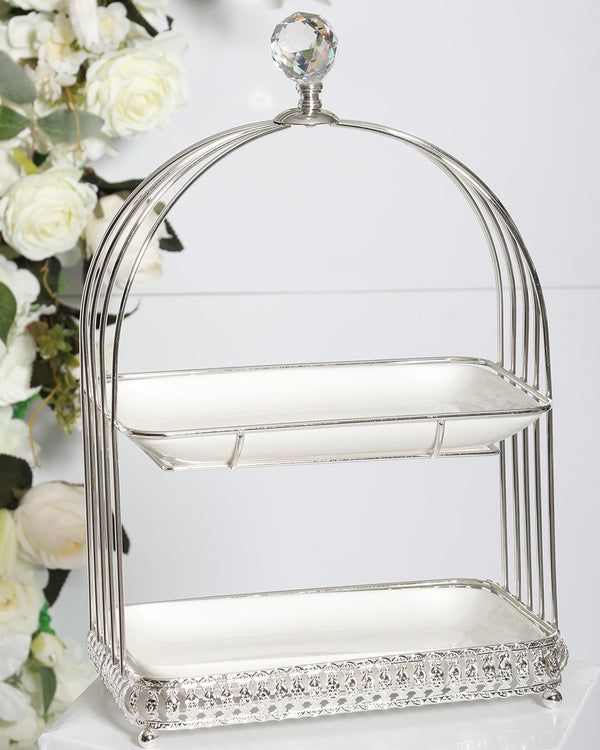 2 Tier Carriage Stand- Silver