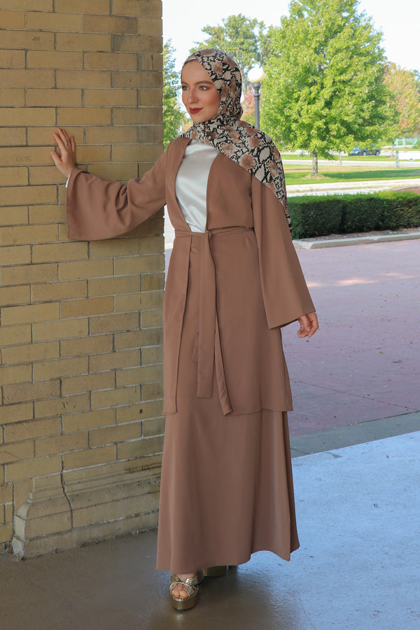 Deluxe Soft Maxi Skirt- Camel