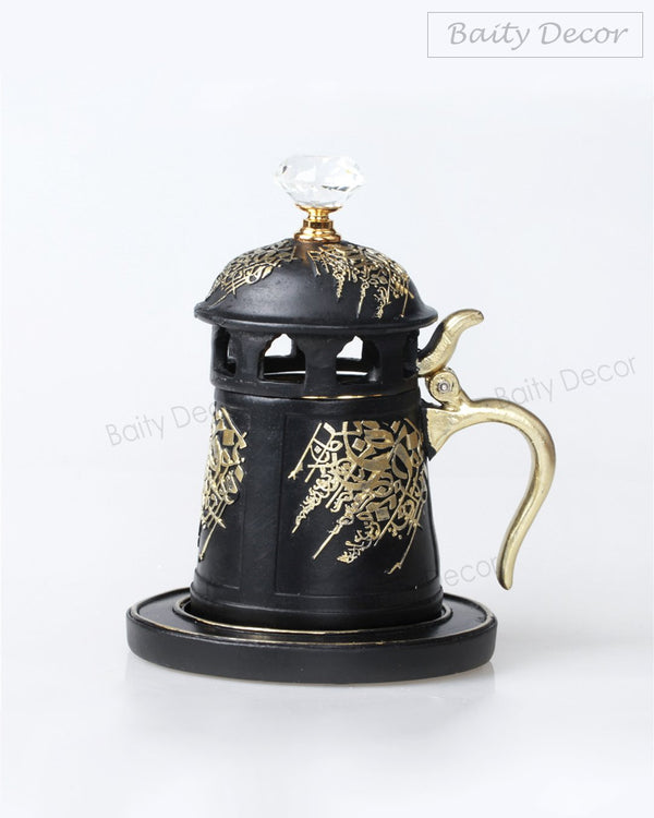 Black and Gold Bakhoor Burner (4608048398393)