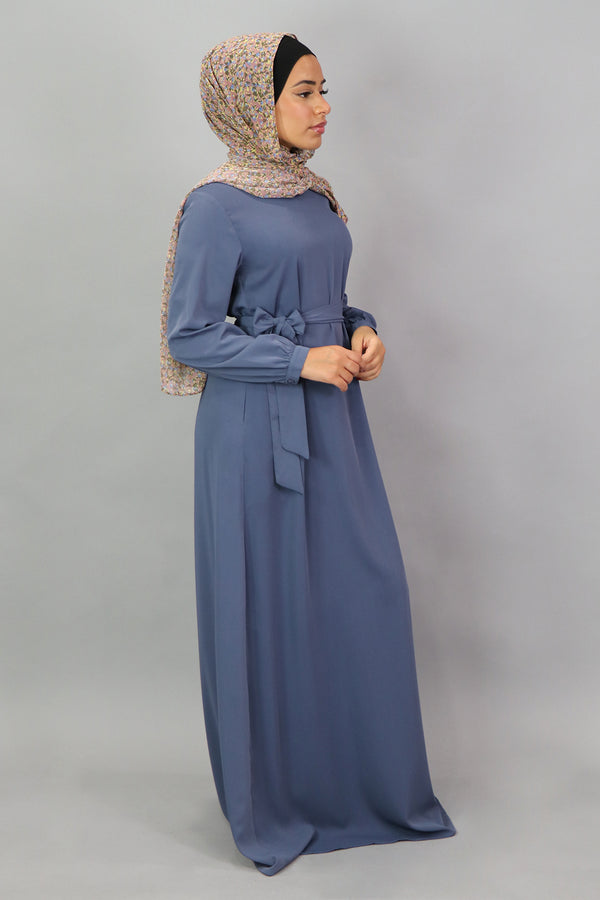 Serenity Blue Deluxe Soft Maxi Dress (5301032714408)