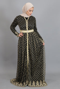 Black Diamond Full Moroccan Kaftan (2238406623289)