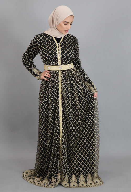 Black Diamond Full Moroccan Kaftan