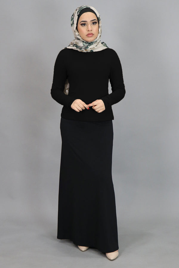 Black Long Sleeve Top (4549411864633)