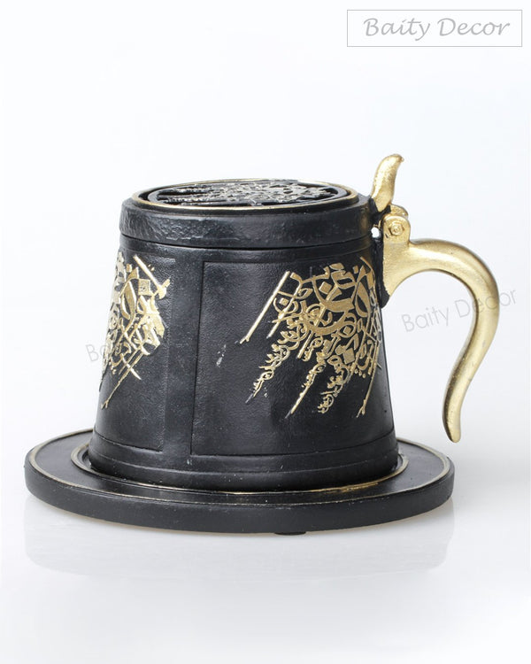 Black and Gold Bakhoor Burner (4608168558649)