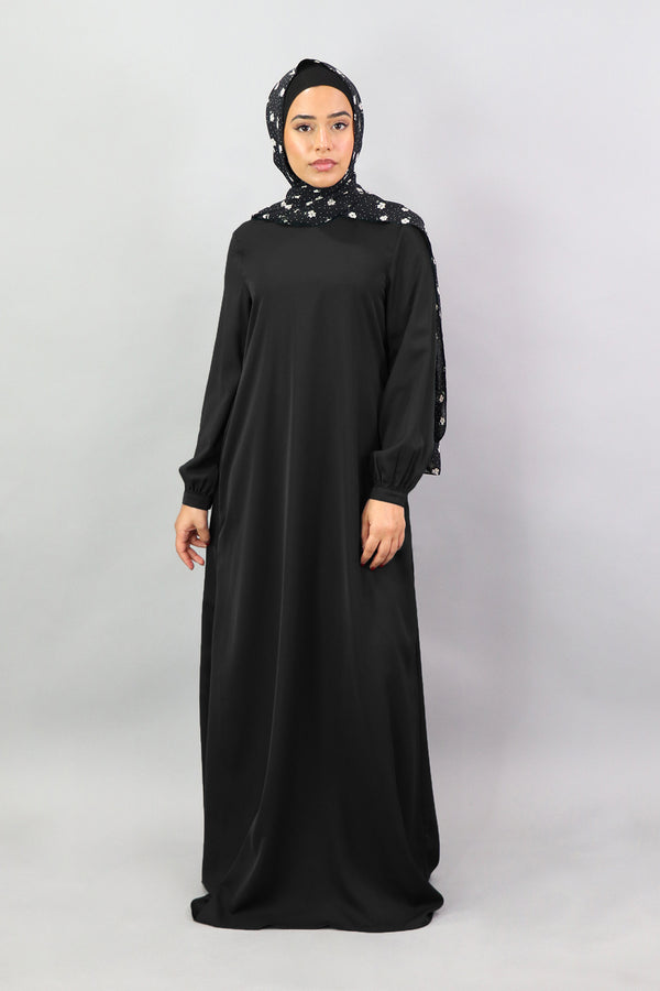 Black Deluxe Soft Maxi Dress (5301002272936)