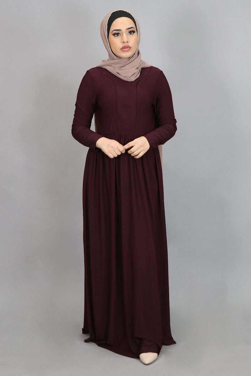 Mahogany Spandex Outline Maxi Dress (4540274212921)