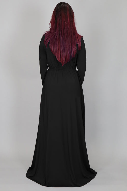 Black Spandex Maxi Dress