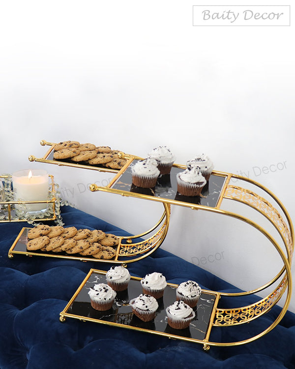 2 Elegant two Tier Serving Stands (4608155222073)