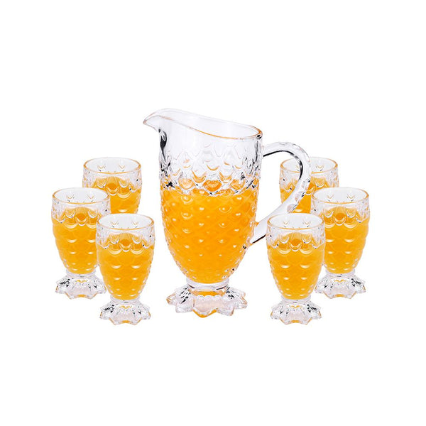 7PC Glass Pitcher and Cups Set (4608012320825)