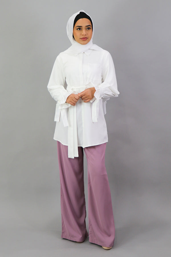 Deluxe Soft Blouse Top - White