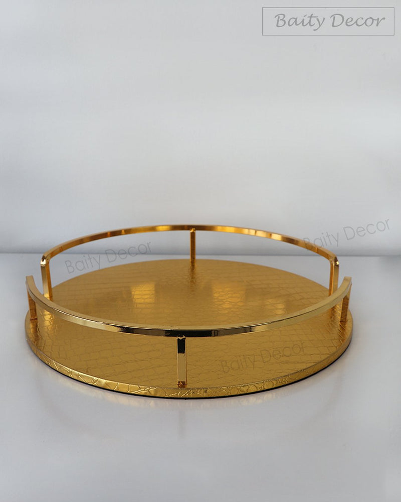 Gold Leather Tray (4608093716537)