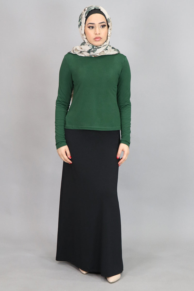 Hunter Green Long Sleeve Top (4534811590713)