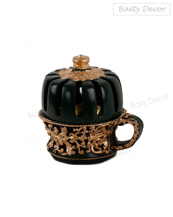 Elegant Black and Gold Bakhoor Burner (4608156106809)